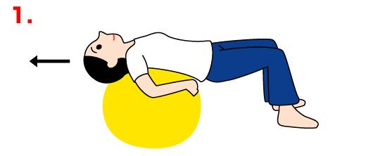 バランスボールで美しい姿勢の運動