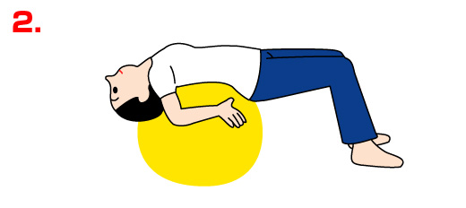 バランスボールで美しい姿勢の運動01