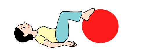 バランスボールで背筋の運動