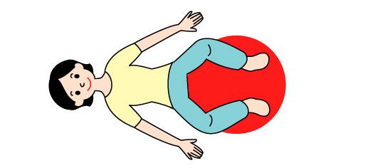 バランスボールでO脚矯正の運動01