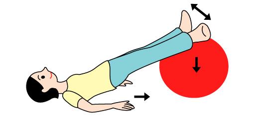 バランスボールでO脚矯正の運動02