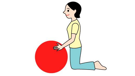 バランスボールで肩の運動