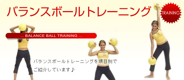 バランスボールトレーニング一例